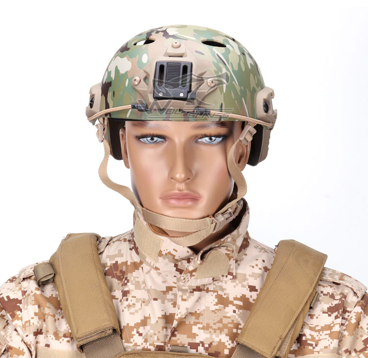 Tactical Airsoft Paintball Adjustable Fast Helmet PJ Type MultiCam NVG Mount Military CS Wargame Headgear Head Protector Gear