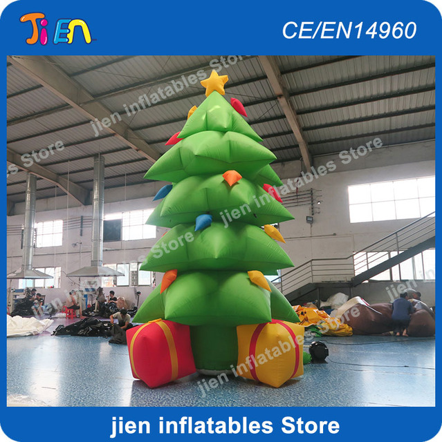 Christmas Tree Inflatables.Us 350 0 3 5m High Merry Christmas Tree Inflatable Outdoor Decoration Inflatable Christmas Green Christmas Tree With Gift Boxes In Inflatable