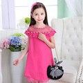 Crianças Vestidos Para Meninas Vestido de Verão 3 de Renda Chiffon Vestido de Princesa 5 2017 Meninas de Verão Vestido de Festa 7 Vestidos Infantils 9 11 12 anos