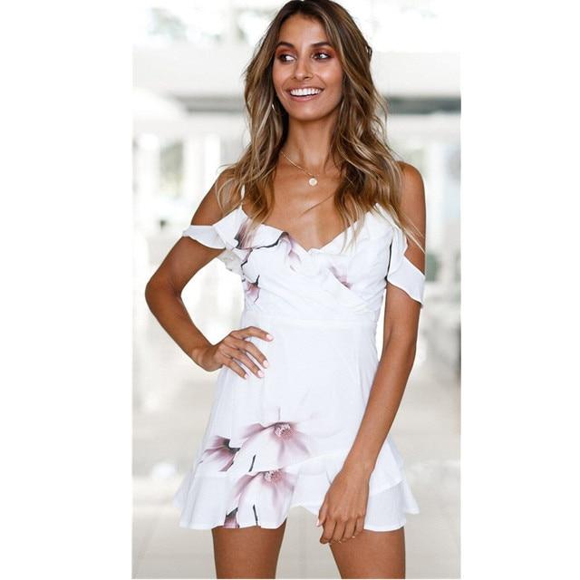 77575ef22c Hot New Trends 2018 Women Summer Dresses White Gown Robe Boho Ruffles Mini  Elegant Bohemian Beach Dress Womens Summer Tunics