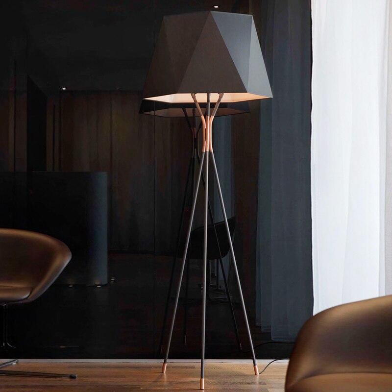 Stile americano semplicità e retrò lampade da terra in piedi staande lampada led nordic lampade da terra per soggiorno Vloer lampada