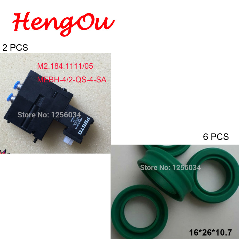 3 pcs M2.184.1111/05 and 6 pcs high quality printing seals for valve 16 26 10.7 high quality hydraulic valve sv13 16 0 0 00