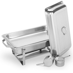 9L Stainless Steel  Buffet Set Round in Home & Garden Kitchen Tool With Free Shipping