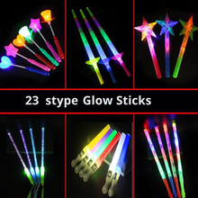 wedding Prop Glow Stick luminous Stick Flashing Stick LED Foam Stick cartoon rabbit Bear mix toys light saber rave party decora цена