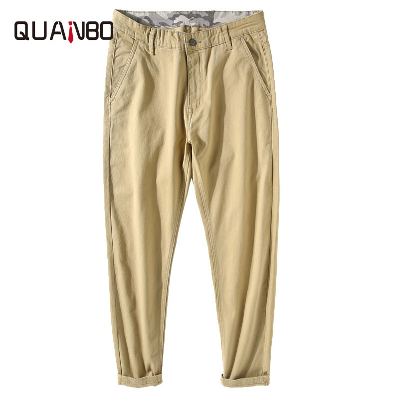 Big Size Men Streetwear Cargo Pants 2019 Autumn Winter New Solid Color High Stretch Harem Pants Casual Loose Pencil Trousers 48