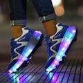 Hot Adultos Crianças Roller Shoes Meninos Meninas Uma Roda Zapatillas Automáticas Patinação Sapatos Crianças Ao Ar Livre Tênis 27-43