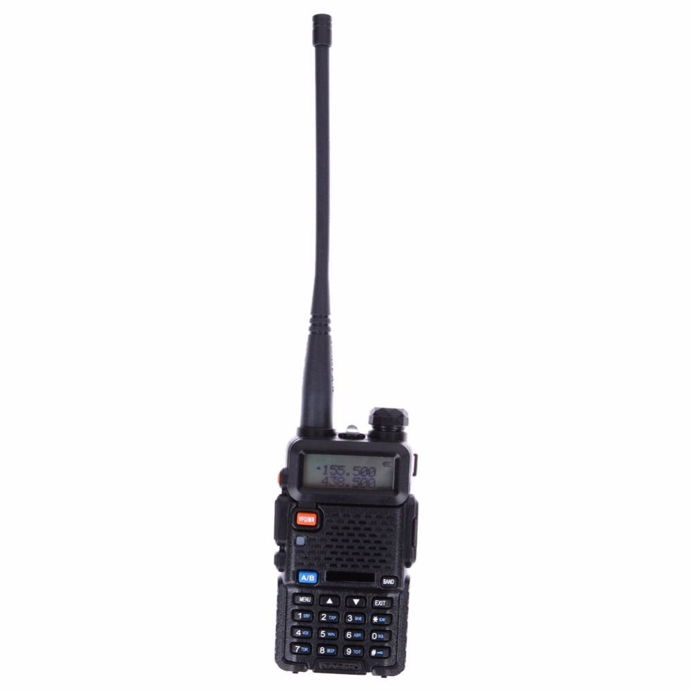 Hot  Dual Band Portable 5W Two Way Radio UHF&VHF 136-174MHz&400-520MHz  Extenion Adapter with LCD Display US Plug