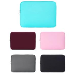Открытый рукав для ноутбука Мягкий чехол на молнии 11 дюймов сумка чехол для MacBook Air Pro ультрабук ноутбук планшет высокое качество