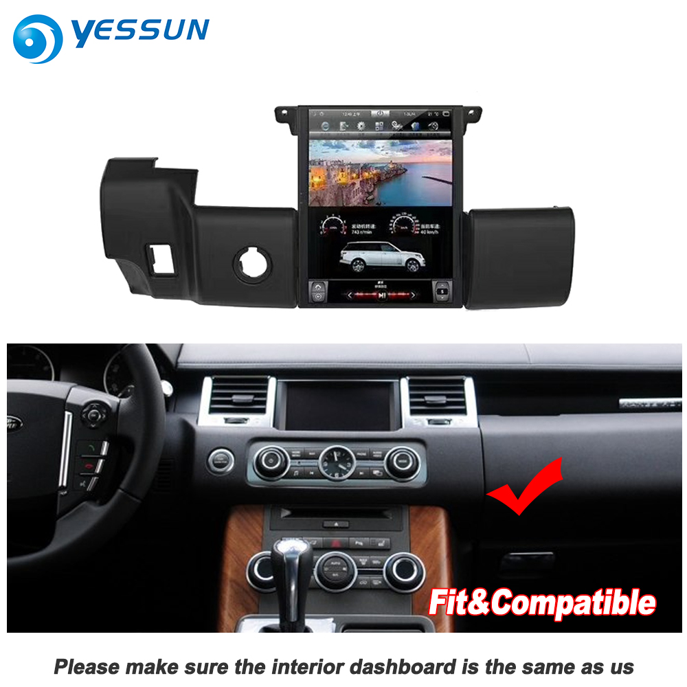 YESSUN 10.4 ''HD Pour Gamme Pour Rover Sport 2009 ~ 2013 autoradio Android GPS Navi maps Navigation original style multiemdia NO DVD - 4