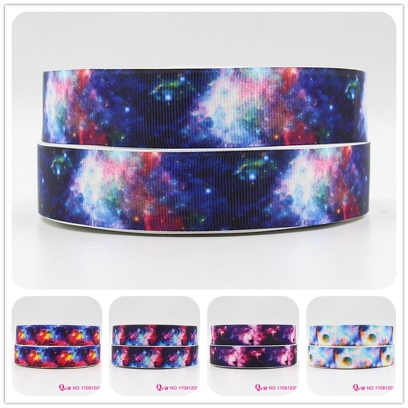 "black /& pink Galaxy Nebula printed 5//8/"" fold over elastic FOE 1 yard Blue"