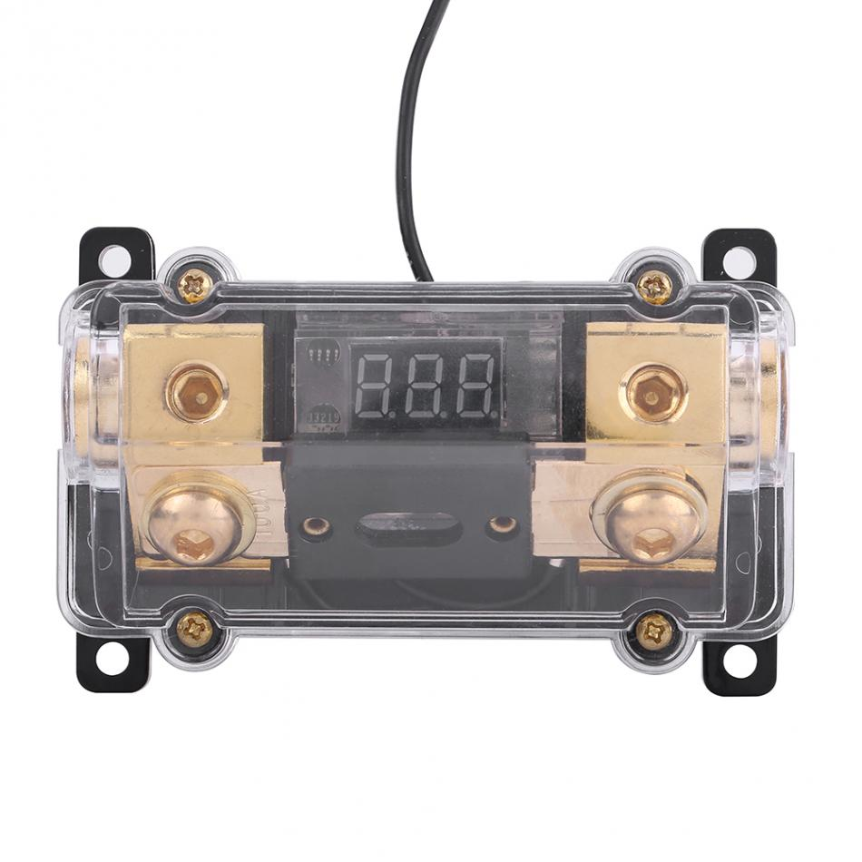 universal 100a car auto vehicle audio power fuse box holder block with led voltage display audio [ 950 x 950 Pixel ]