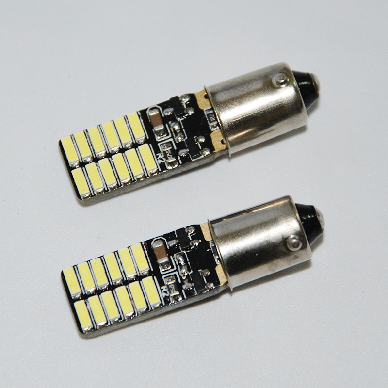 4шт Т4W о ba9s Н6ВТ 4014SMD светодиодные безошибочной Автомобильные лампы индикаторы внутреннее освещение автомобиля Сид Автоматический Светильник canbus