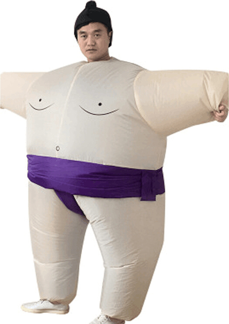 16cbe46233cf81 Dmuchane Sumo garnitury stroje mężczyźni kobiety grubas Airblown Sumo  zostało uruchomione Cosplay kostium Halloween karnawał Fancy