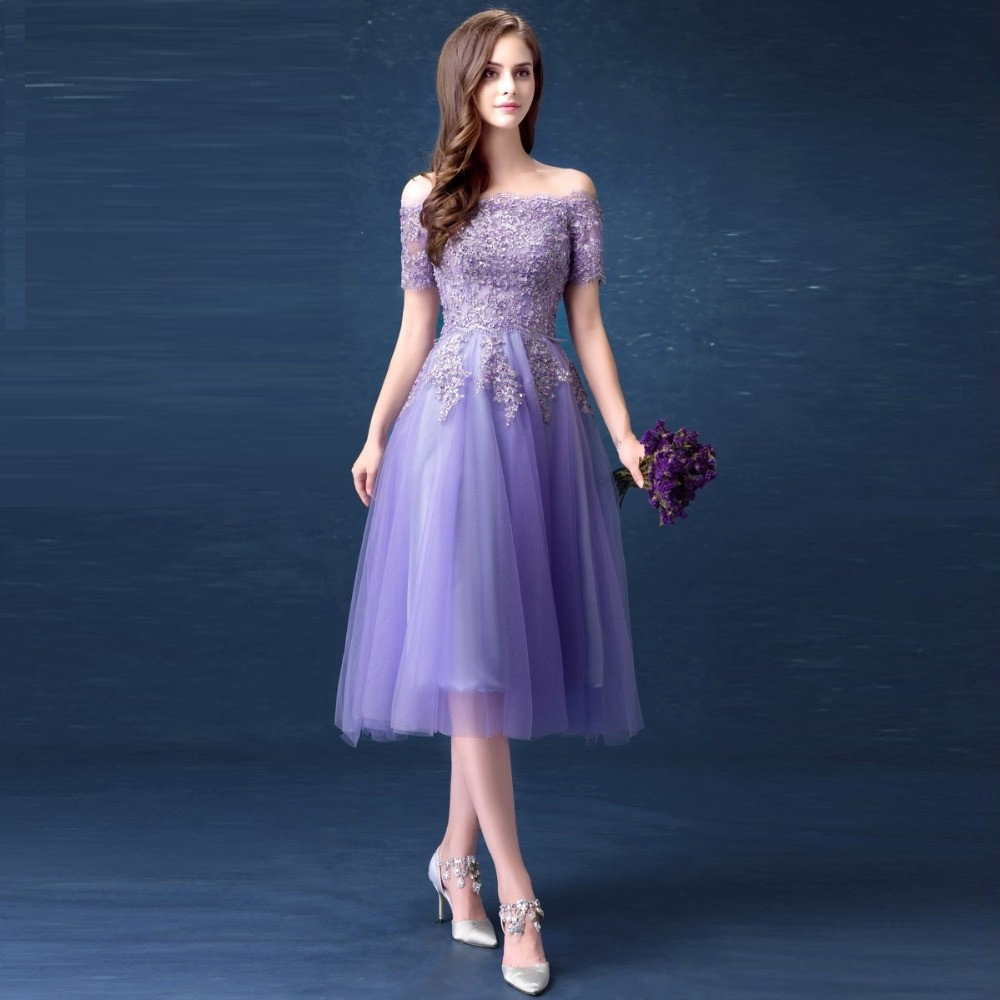 SOCCI Lavender Lace Sexy Boat Neck Strapless Cocktail Dress New Lace ...