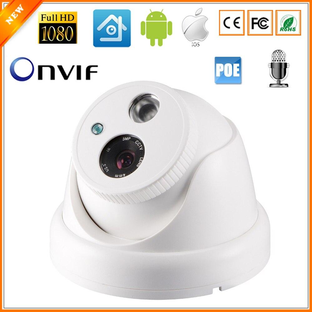 bilder für BESDER Interne Audio Ip-kamera 720 P 960 P 1080 P (sony imx322) indoor dome überwachung video kamera ip dc 12 v 48 v poe optional