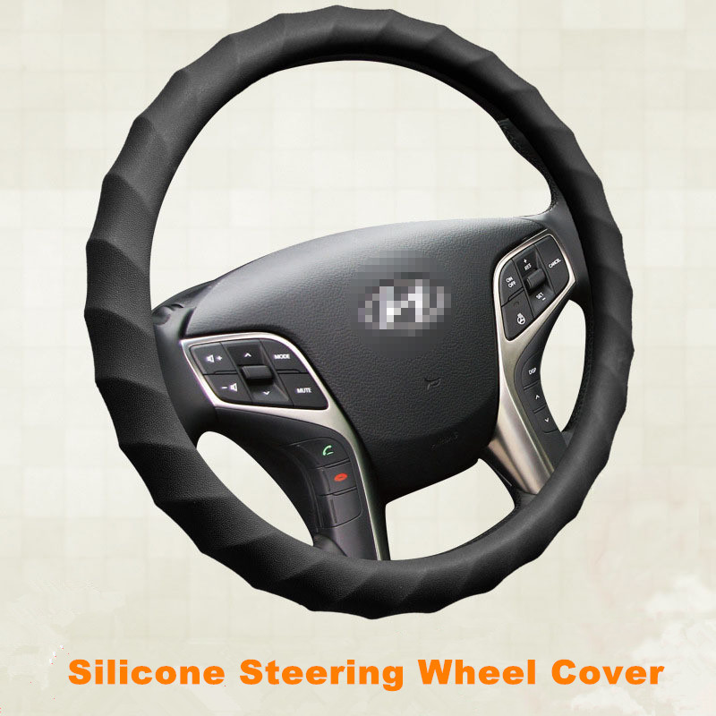 Silicone Steering Wheel Cover For Car Interior Accessories Fashion Auto Steeing Wheel Covers Four Season Wheel Case Covers