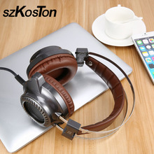 Gaming Headset Stereo V2 Earphone gamer LED Light Hi-Fi Headphones MP3 with microphone for computer PC fone de ouvido
