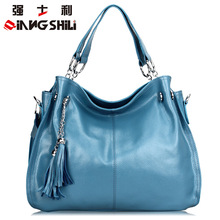 2016 Spring and Summer Leisure Section Fringed Leather Handbag Ms. Portable Shoulder Messenger Bag Lady Large Capacity Totes