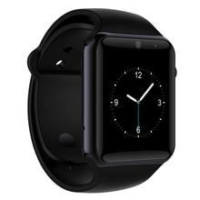 Original Bluetooth 4.0 Reloj Inteligente Android Reloj Conectado Smartwach Deporte Podómetro Con Ayuda de La Cámara Tarjeta SIM Smartwatch