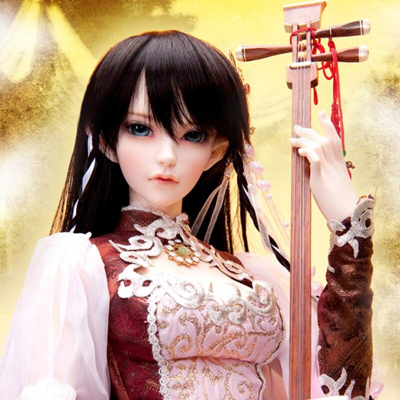 цена на OUENEIFS bjd sd doll fairyland feeple65 siean 1/3 body model baby girls dolls eyes High Quality toys shop resin
