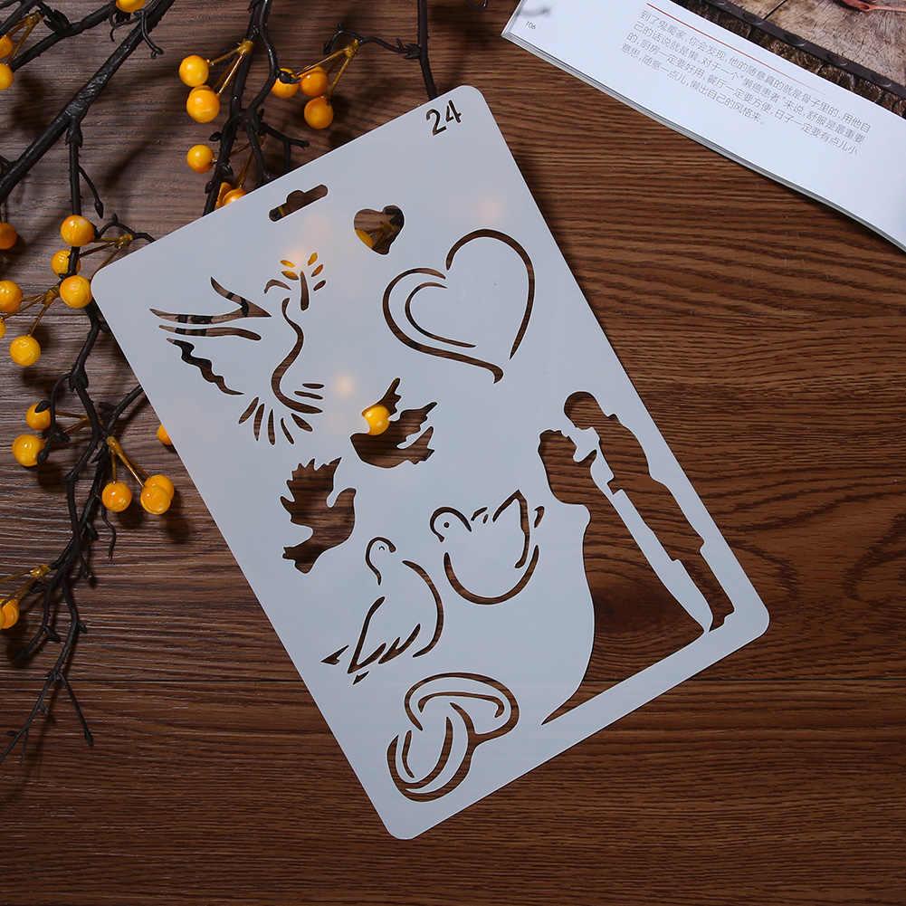 DIY Fotoğraf Albümü Düğün Dekorasyon Mandalina Ördek Sevgilisi Tema Dantel Cetvel Şablon Beraberlik Aracı Art Sticker Fotoğraf Albümü Dekorasyon