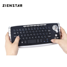 Zienstar WirelessTrack Ball Keyboard with USB Receiver ,Fly Mouse Button for PC,Laptop,Smart TV