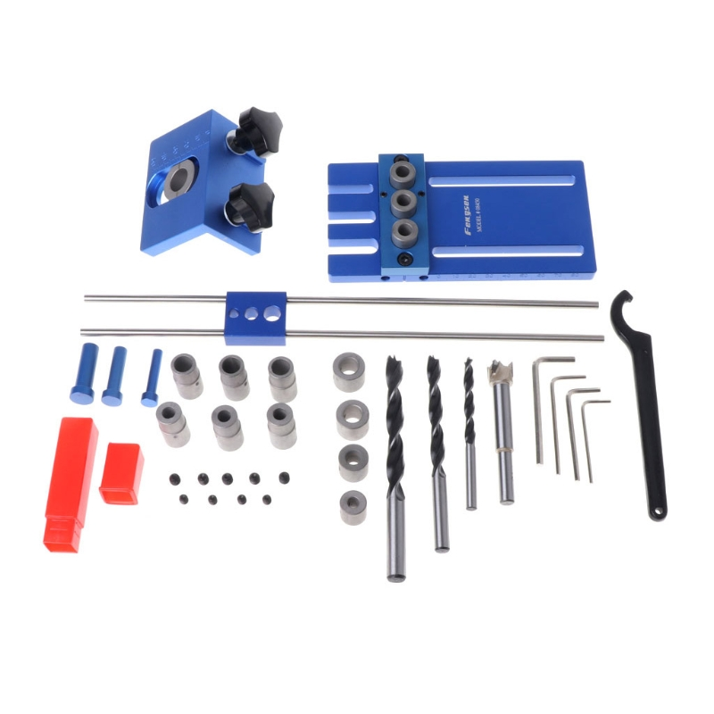 1Set Woodworking Pocket Hole Jig Kit System With Crescent Hex Wrench Drill Bit Set For Carpenter WoodWorking Hardware Tool Set1Set Woodworking Pocket Hole Jig Kit System With Crescent Hex Wrench Drill Bit Set For Carpenter WoodWorking Hardware Tool Set