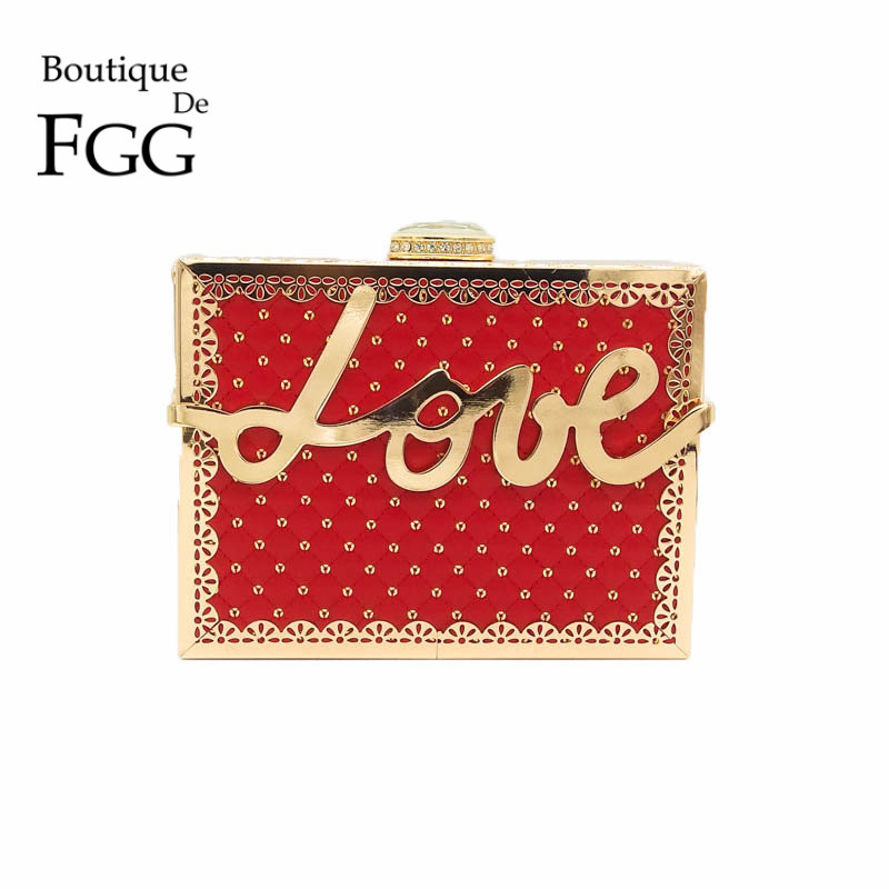 Love Letter Women Red Satin Plaid Gold Metal Evening Clutches Mini Hand Bag Casual Day Clutch Ladies Fashion Handbag and Purse new 2015 fashion women day clutches shiny red and black evening clutch handbag female bolsa feminina pequena lady purse hand bag