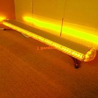 VSLED 12V 24V 55Inch 104 LED Wrecker Beacon Flashing Recovery LightBar Strobe Light Bar Warning Emergency Amber LED LightBar