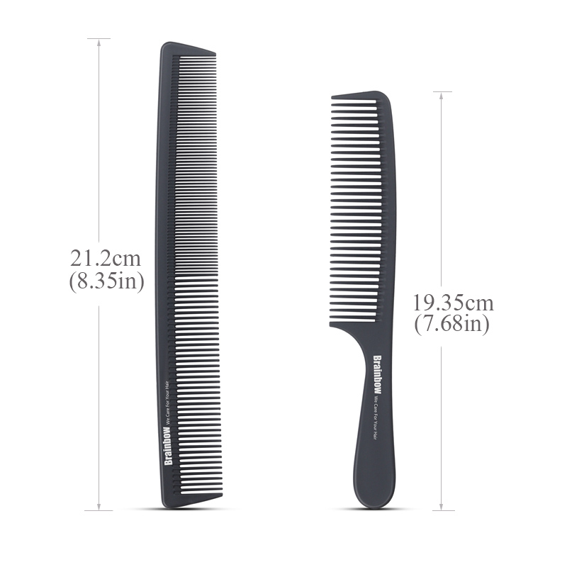 Brainbow 2pc Hair Comb Anti-statisk Carbon Hair Brush Professional - Hårpleje og styling - Foto 2