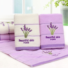 Toalla de baño algodón bordado aromaterapia de lavanda suave toalla facial de mano juego de toallas de baño 70x140cm toalla Vintage H5
