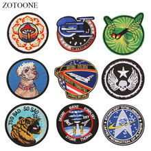 ZOTOONE Round Patches Dog Skull Diy Stickers Iron on Clothes Heat Transfer Applique Embroidered Applications Cloth Fabric G zotoone round punk patches diy skull stickers iron on clothes heat transfer applique embroidered applications cloth fabric g