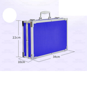 Image 5 - Portable en alliage daluminium valise solide aquarelle peinture à lhuile peintures à leau couleur stylo crayon de couleur pour peinture cadeau Set fournitures