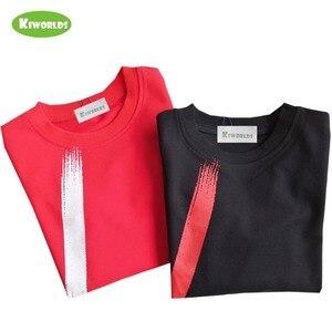 Image 3 - Chłopcy topy odzież dziecięca wiosna jesień bawełniana koszulka z długim rękawem dla chłopców, z czarnym i czerwonym chłopcem wygodna odzież