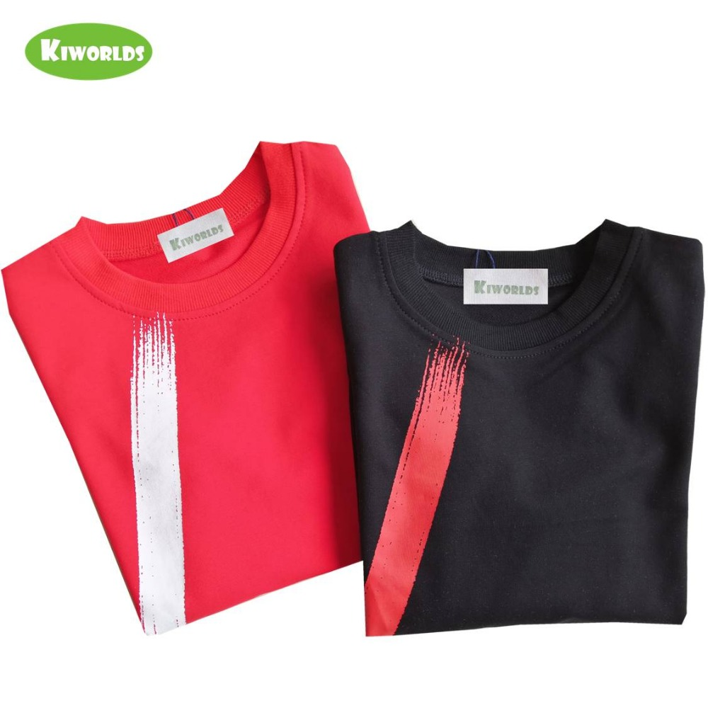 Image 3 - boys tops Childrens clothing spring autumn cotton long sleeve boys T shirt ,with black and red boy comfortable clothingT-Shirts   -