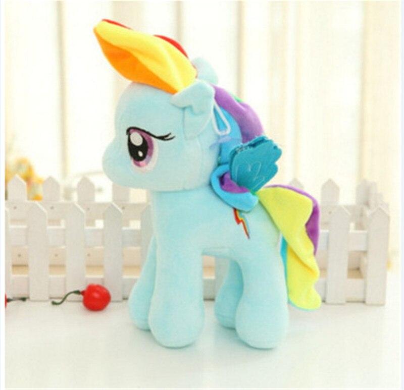 Plush Animal Unicorn Horse Stuffed Animals Toys Baby Infant Girls Toys Birthday Gift Rainbow licorne2