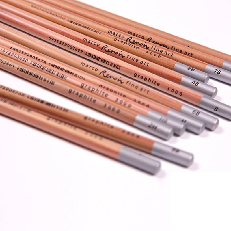 Marco 12 unids hierro carbón dibujo a lápiz pintura mejor calidad no ...