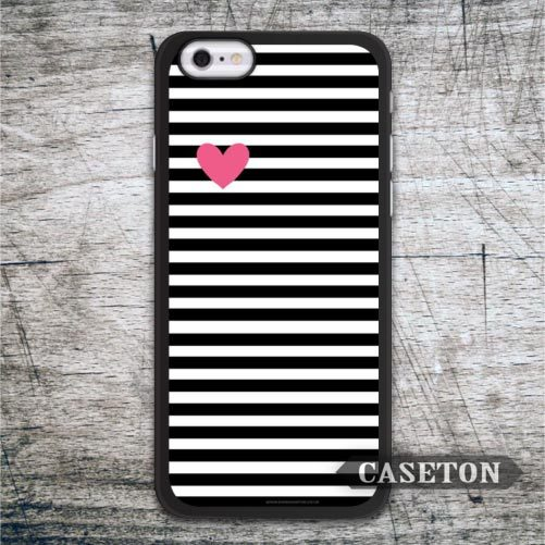 Heart With Black Stripes Case For iPhone 7 6 6s Plus 5 5s SE 5c and For iPod 5 High Quality Ultra Phone Cases Free Shipping