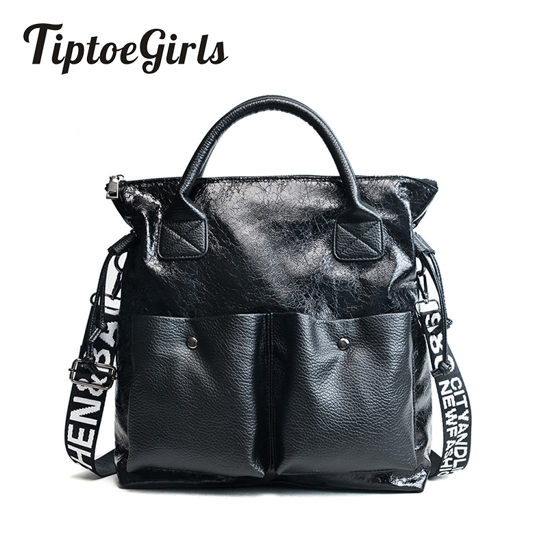 Fried Crack Pattern Leather Ladies Handbag New Large Women Bags Casual Totes Women Shopping Bags Girls Female Shoulder Bags