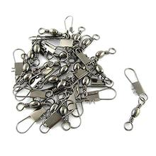 Good deal Grey Fishing Line to Hook Clip Connector Swivels 20PCS