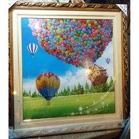 Diamond embroidery 87x92CM Diy 5D Round Diamond painting Cross Stitch Scenic,crystals mosaic Hot Air Balloon decorative painting