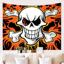 Sugar Skull Floral Microfiber Wall Hanging Home Twin Tapestries Grateful dead psychedelic Tapestry Tie Dye hanging