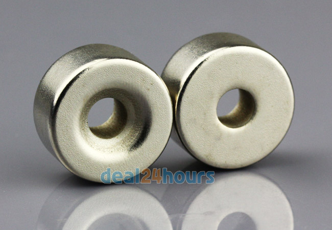 OMO Magnetics 2pcs Super Strong Round Neodymium Countersunk Ring Magnets 20 x 10 mm Hole: 5mm Rare Earth N50 2pcs n50 super strong block cuboid neodymium magnets 100mm x 50mm x 5mm rare earth 100 50 5mm free shipping