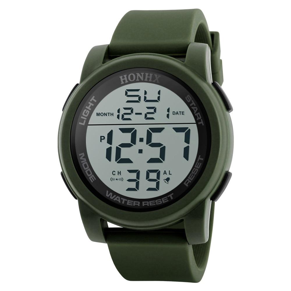 Montre de luxe hommes analogique numérique armée militaire Sport LED étanche montre-bracelet # N7032010