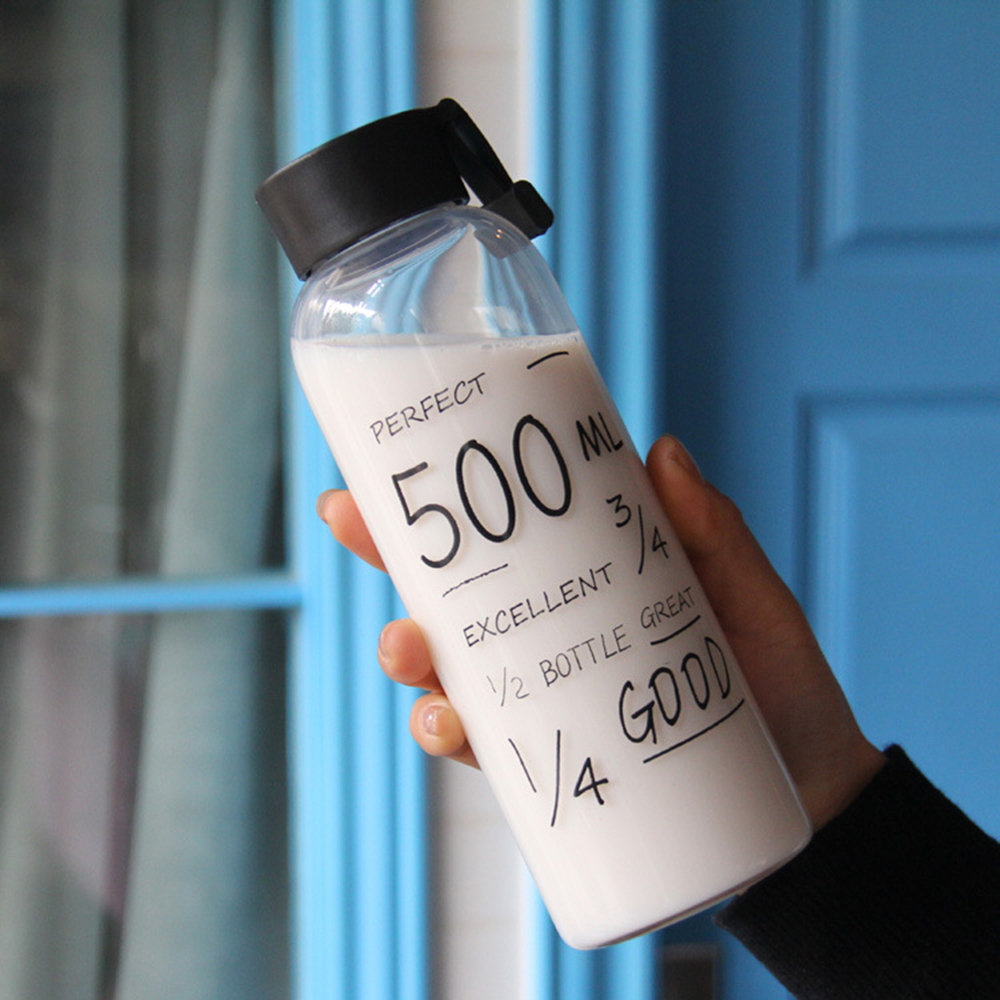 500ML Spots Portable Clear Plastic Sport Travel Fruit Juice Water Cup Bottle 1Pc