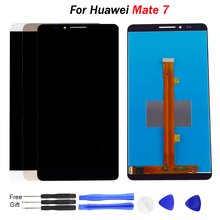 цены на For Huawei Mate 7 LCD Display Touch Screen Digitizer 6.0'' IPS LCD For Huawei Ascend Mate 7 Display Replacement Parts Mobile LCD  в интернет-магазинах