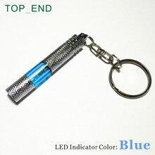 1 шт., удобный автомобильный антистатический брелок для ключей, 5 цветов, латунный стержень с накаткой, хромированный