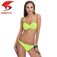 JABERNI 2017 New Sexy Polka Dot Bikini Push Up Swimwear Women Swimsuit Halter Top Biquini Swimsuit