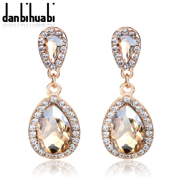 Schone Weibliche Lange Grosse Kristall Ohrringe Mode Schmuck Hochzeit