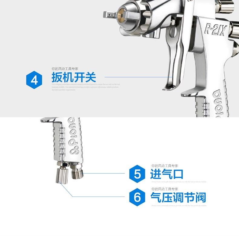 prona painting gun R21-X air spray gun R-21X-17